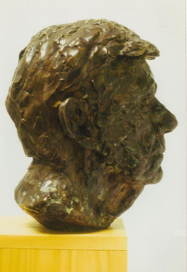 Portret Jo Bokma, fotograaf brons
