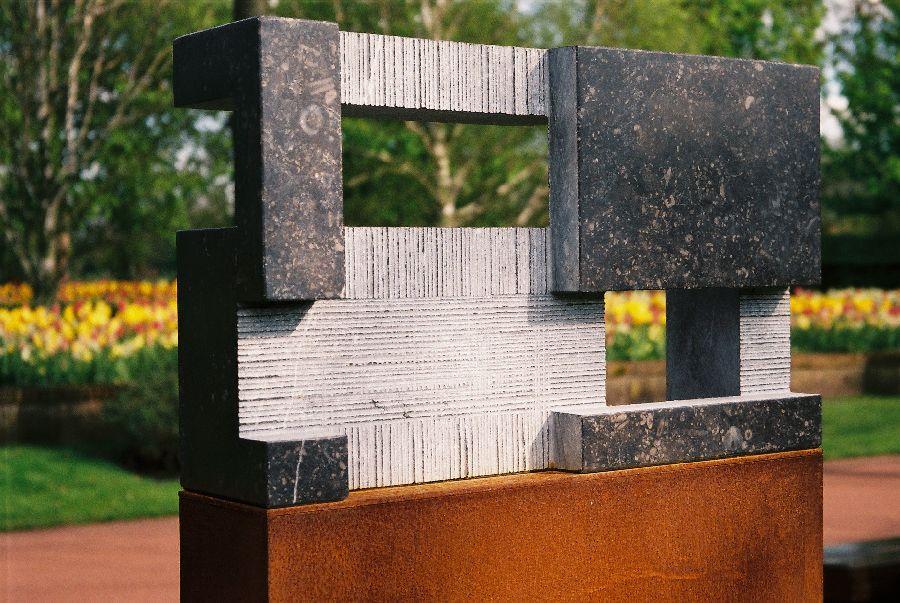 B069 Belgisch hardsteen, cortenstaal 40 x 10 x 143 cm