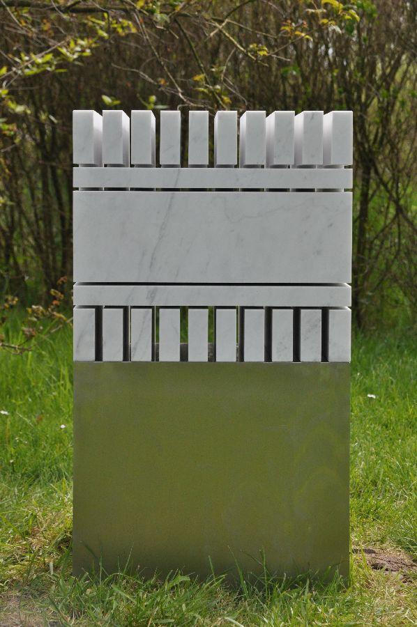 B087 Carrara Bianco, rvs 43 x 39 x 78 cm